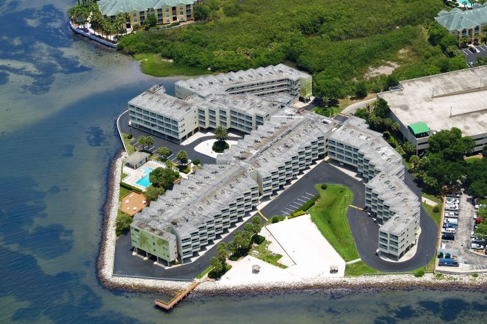 overhead view of Sailport Waterfront Suites